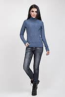 Светло-джинсовый молодежный свитер