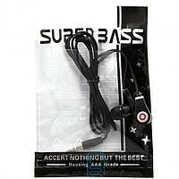 Наушники Tour Super Bass в пакете черные