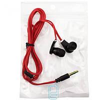 Наушники MP3 в пакете красные