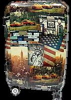 Чемодан дорожный пластик (размерный ряд) Америка Ч29