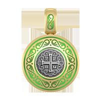 Хрест натільний, підвіска, емаль