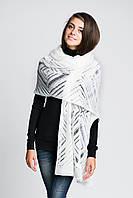 Молочный легкий женский шарф