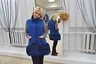Эксклюзивное пальто чернобурка по низу.В наличии 42-44 размер