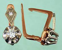 Золоті сережки  з діамантом