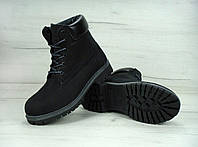 Зимние ботинки Timberland Black, Женские ботинки с иск. мехом