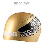 Силиконовая шапочка для плавания Arena Poolish Moulded Gold Wings, фото 1