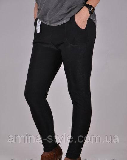 Штаны женские на меху с карманами, 50-52 размер