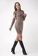 Молодежное платье со съемными рукавами