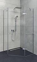 Душевое ограждение устанавливается на плитки для ванной
