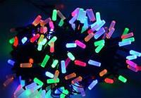 Гирлянда LED 200  мультиколор 8 граней ( гирлянда на елку )