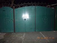 Ворота и калитка металлическая с ковкой