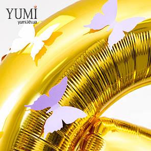 Цифры 16 золотые с бабочками, фото 2