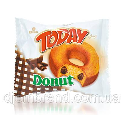 Пончик Tuday Donut с шоколадом, 45 г. (Донатс с шоколадом)