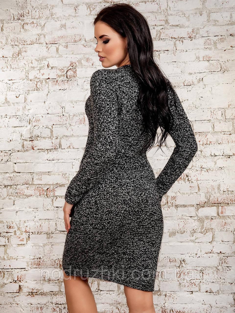 женское вязаное платье с длинным рукавом 3цвета продажа цена в