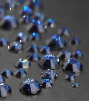 Стразы для ногтей 2-6 мм, 1 баночка, темно синие, фото 1