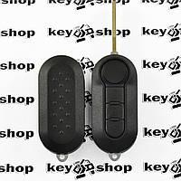 Корпус выкидного ключа для Citroen Jumper (Ситроен Джампер), 3 кнопки, лезвие  SIP 22