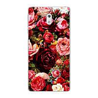Силиконовый чехол для Nokia 3 с картинкой розы