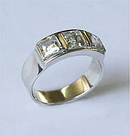 Срібний перстень з цирконом