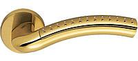 Ручка дверная на розетке Colombo Milla LC 41 полированная латунь/матовое золото (Италия)