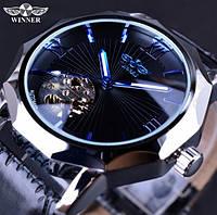 Мужские механические часы Winner Modern. Стильные наручные часы