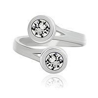 Женское кольцо с кристаллами Swarovski