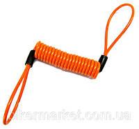 Трос сигнальный для замка на тормозной диск Kovix оранжевый