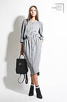 Платье женское, серое, осень-зима P-ORLY1-1