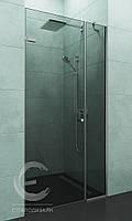 Стеклянная перегородка в душ