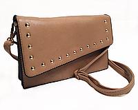 Жіноча клатч сумка коричнева