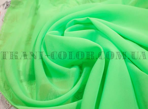 Ткань шифон ярко-салатовый, фото 2