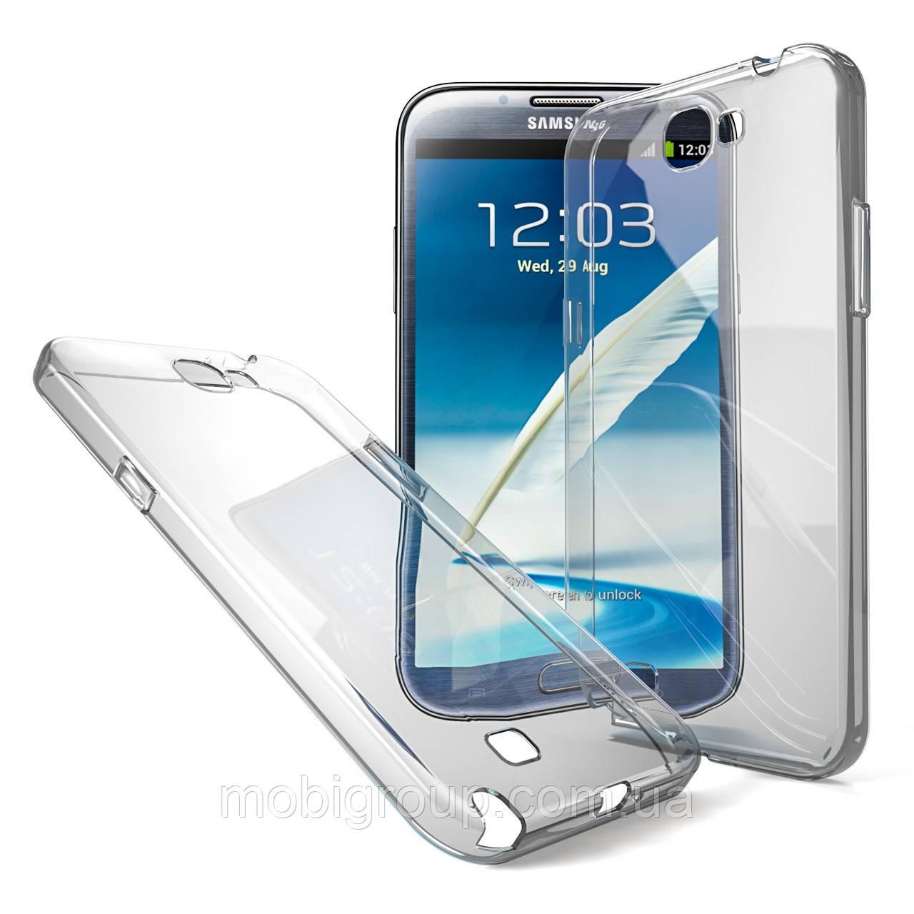 Чехол силиконовый прозрачный для Samsung Note 2, 0.5mm