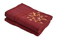 Полотенце банное бордовое