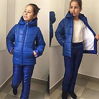 Модная детская куртка в горошек