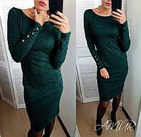 Красивое женское платье зимнее