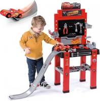 Мастерская Smoby Cars с инструментами и спусковой дорогой (360713)