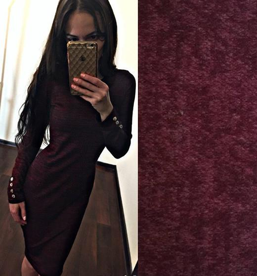 платье с пуговицами на рукавах