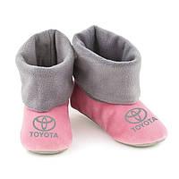 Домашні тапочки Toyota світло рожеві з сірим манжетом, фото 1