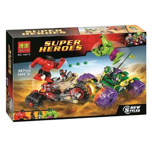 Конструктор Bela 10675 Халк против Красного Халка Супергерои (аналог Lego Super Heroes 76078)