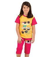 Пижама для девочки Лето р.7-8,9-10,11-12 лет