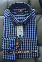 Рубашка в клеточку теплая р.M-2XL