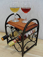 """Подставка для вина """"Love is"""" на 4 бут. (арт. 053)"""