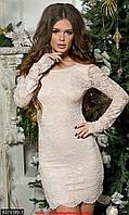 Cтильное гипюровое платье на подкладе