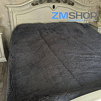 Меховой плед утепленный (230 х 210 см) серый