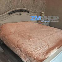 Меховой плед утепленный (230 х 210 см) персик