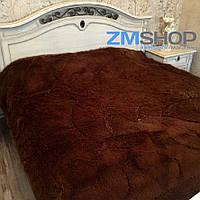 Меховой плед утепленный (230 х 210 см) шоколад