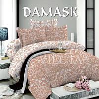 001 Комплект постельного белья  2-х сп.  ПОПЛИН-Дамаск