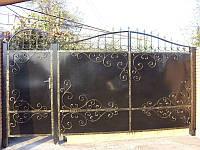 Ворота и калитка дворовые металлические