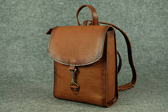 Женский рюкзачок «Венеция» XL  11923  Италия  Коричневый