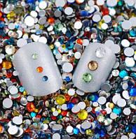 Стразы для ногтей 2-6 мм, 100 шт, микс, фото 1