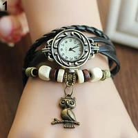 Классные женские часы браслет Bluelans черного цвета